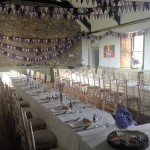 A wedding reception at Sennen venue