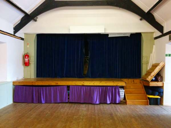 The stage in the Sennen hall venue