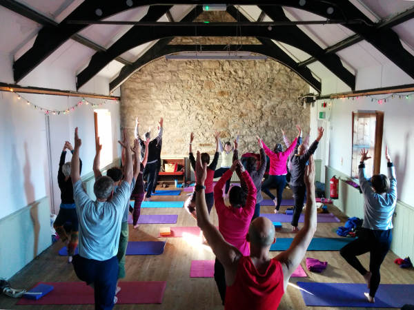 Yoga Class in Sennen Hall Cornwall